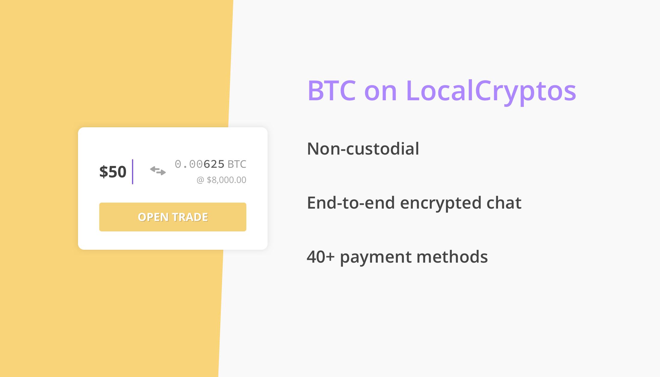 Interfaz de LocalCryptos