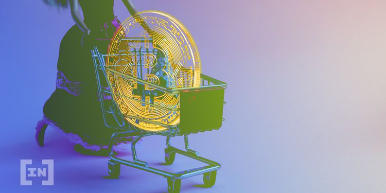 Bitcoin en un carro de compra