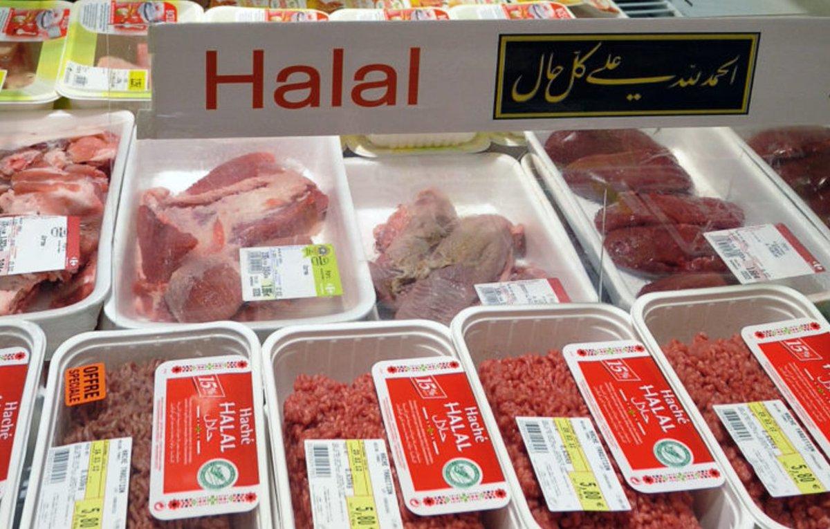 Productos Halal promocionados en un mercado. Con la blockchain se puede tener una certeza casi insuperable de que la certificación y los productos son reales. Imagen: Twitter