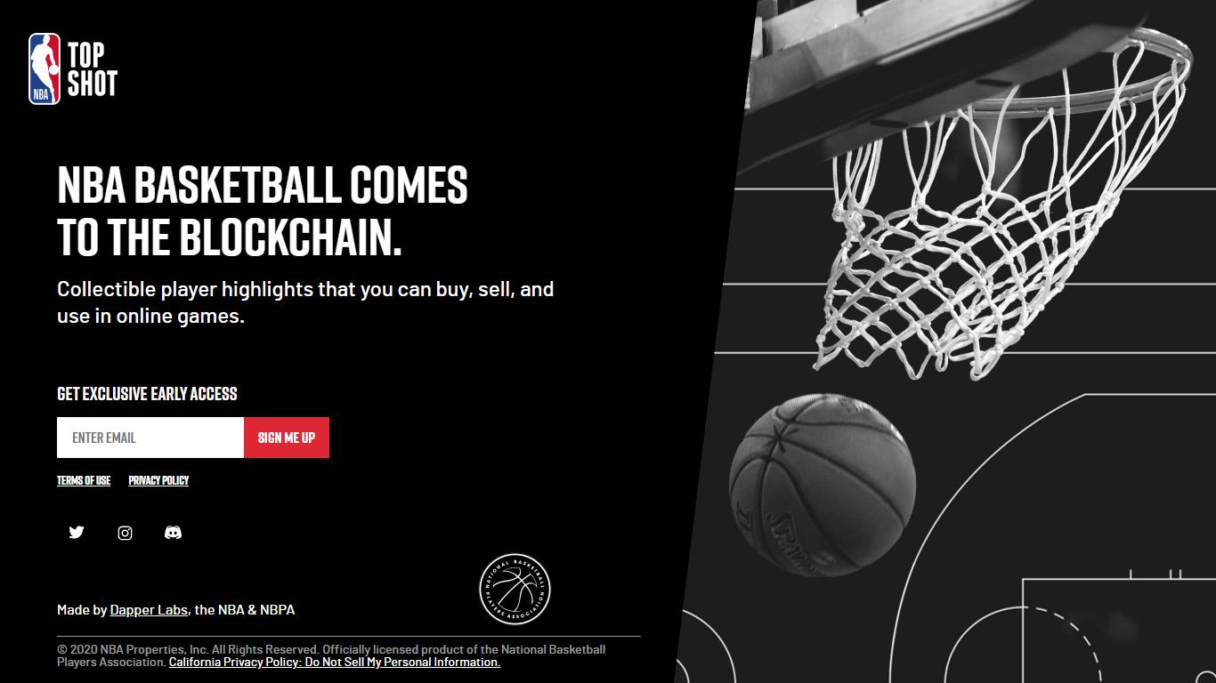 El programa NBA Top Shot utiliza tecnología blockchain para brindar una experiencia única a sus usuarios. Image: NBA Top Shot