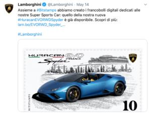 Lamborghini anuncia coleccionables blockchain