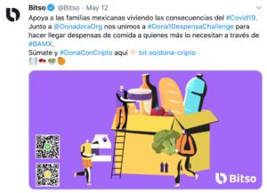 Bitso donaciones Mexico