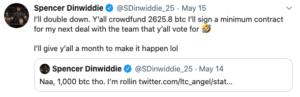 Spencer Dinwiddie crea campaña Bitcoin para su futuro en la NBA