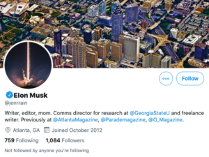 Cuenta hackeada de twitter Elon Musk