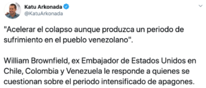 Tweet sanciones EEUU