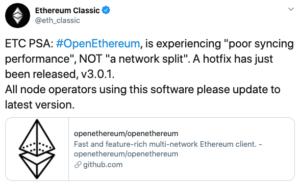 Tuit Ethereum Classic Bug