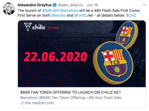 Tuit FC Barcelona Chilliz