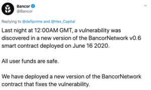 Tuit Bancor DeFi brecha