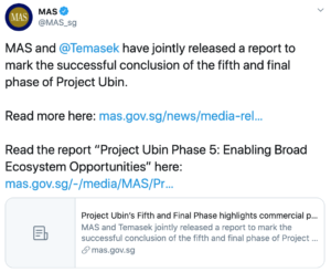 Tuit MAS Singapur JP Morgan blockchain