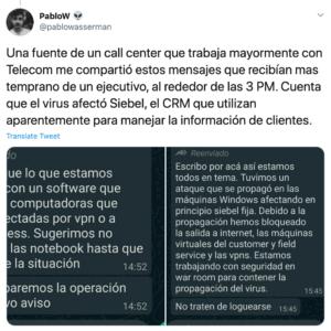 Tuit Telecom Argentina ransomware