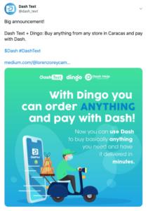 Tuit Dash Text Dingo Delivery