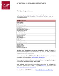 CNMV listado
