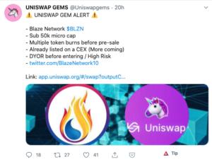 Tuit Uniswap Blaze