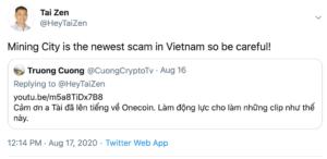 Mining City estafa Vietnam