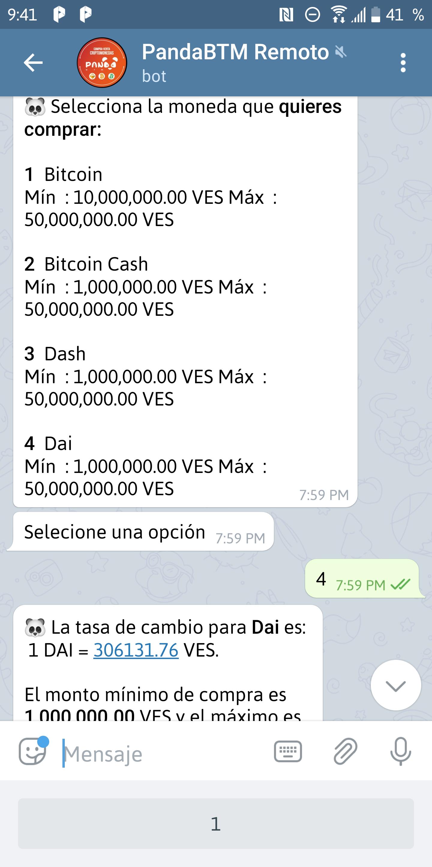 Imagen del bot de Telegram de PandaBTM. Image: BeInCrypto