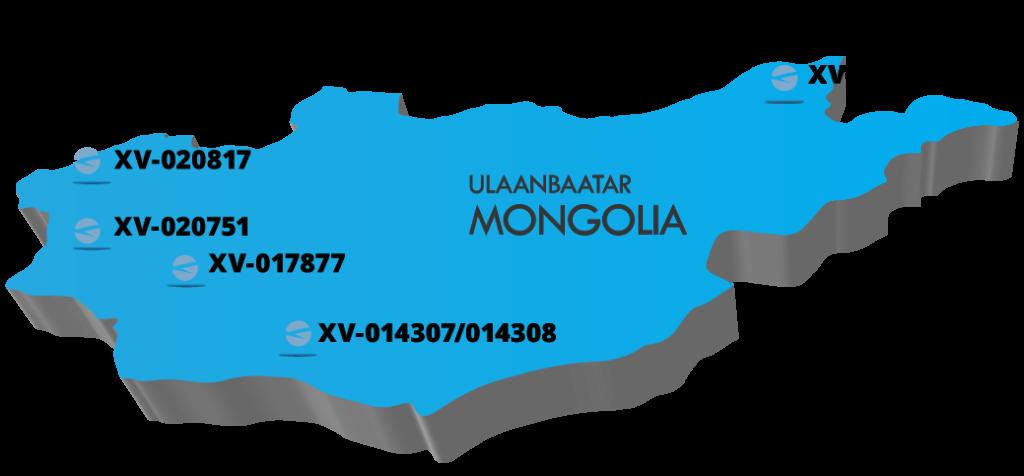 Mapa de las supuestas licencias de minería en Mongolia que posee Blue Hill Mining. Imagen: Tulip Research.