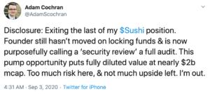 Tuit Adam Cochran DeFi