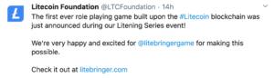 Litecoin entre en la industria de los videojuegos
