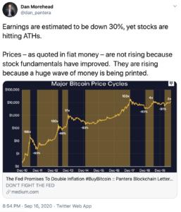 Tuit Pantera Bitcoin