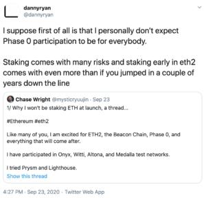 Tuit refutando criticas stacking 2.0