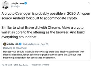 tuit sobre Android pro-cripto