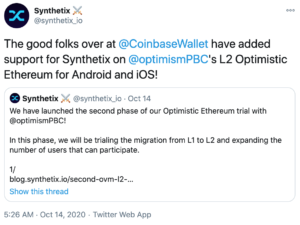 Tuit Synthetix Coinbase