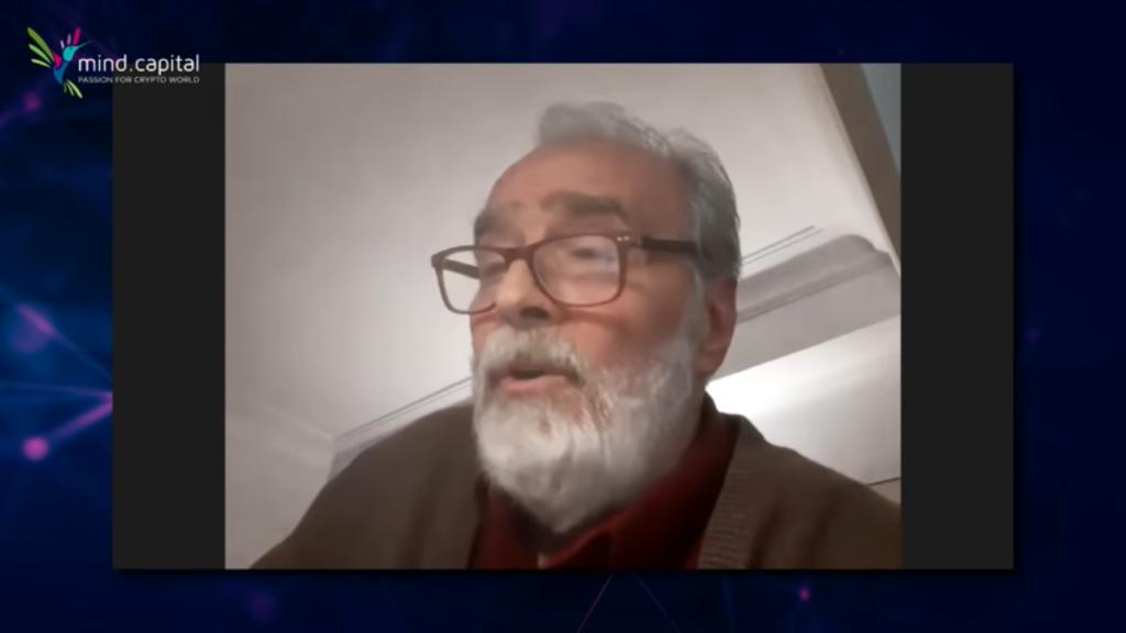 Gonzalo García-Pelayo en plena comunicación de su empresa. Fuente: Canal oficial de Mind Capital en Youtube.