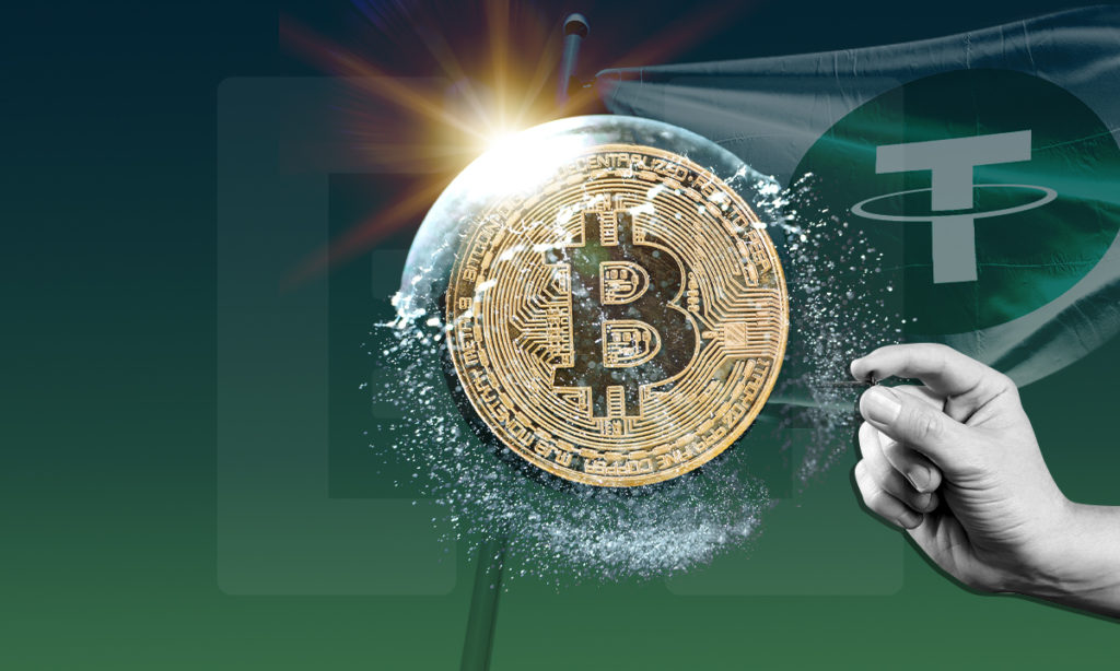 Bitcion burbuja Tether