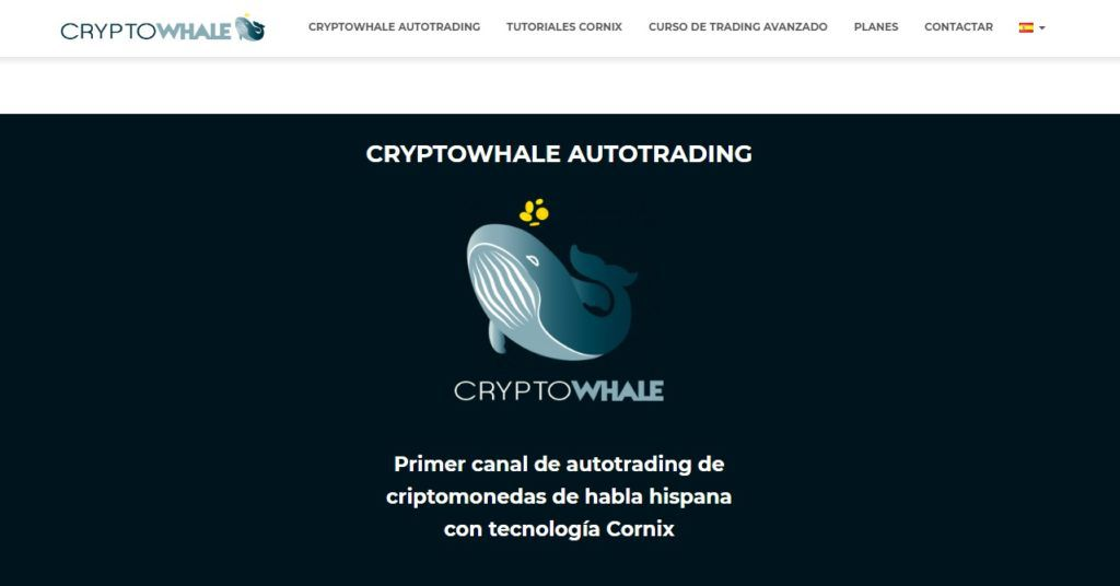 cryptowhale webpage
