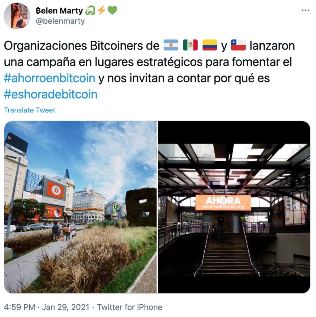 Campaña Bitcoin Latinoamerica