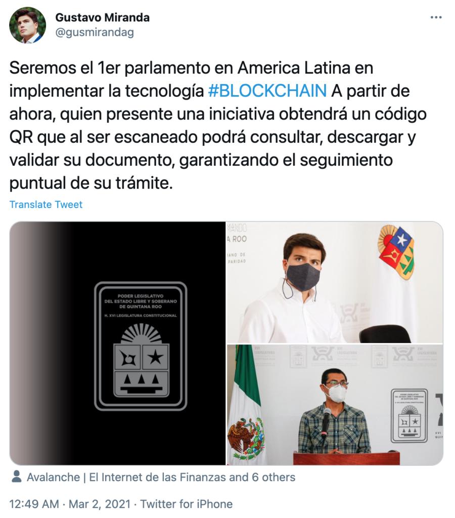 Mexico blockchain avalanch