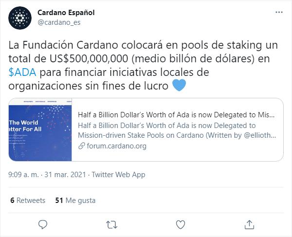 cardano pools caridad