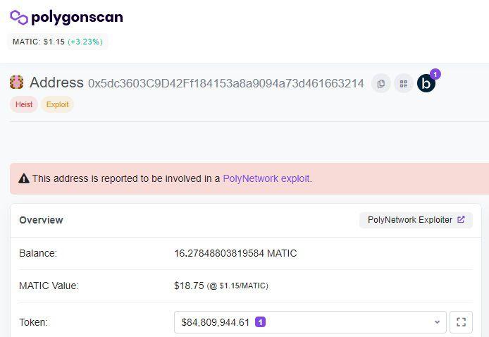 FXMAG criptodivisas ¡defi sufre hack monumental! más de $600 millones robados en poly network mercados defi hack mensajes información 2